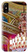 Crystal Chandelier In Dolmabache Palace In Istanbul-turkey  IPhone Case