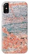 Cut Surface Showing Granite Invading Gneiss IPhone Case