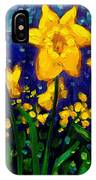 Dancing Daffodils Cropped  IPhone Case