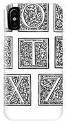 Decorative Initials, C1600 IPhone Case