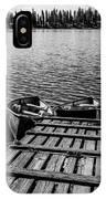 Dock At Island Lake IPhone Case