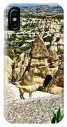 Dog Looking At Fairy Chimneys In Cappadocia-turkey IPhone Case