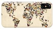 Dogs Map Of The World Map IPhone Case