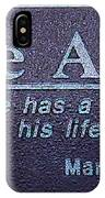 Eddie Aikau Plaque IPhone Case