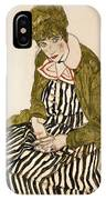 Edith With Striped Dress Sitting IPhone Case