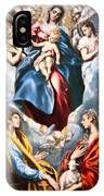 El Greco's Madonna And Child With Saint Martina And Saint Agnes IPhone Case