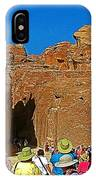 Entering Mile-long And 600 Foot High Gorge Leading To Treasury In Petra-jordan  IPhone Case