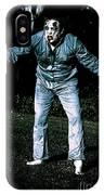 Evil Dead Horror Zombie Walking Undead In Cemetery IPhone Case