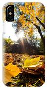 Fall Autumn Park. Falling Leaves IPhone Case