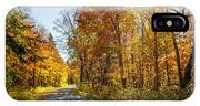 Fall Forest Road IPhone X Case