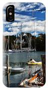 Fall In The Harbor IPhone Case