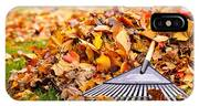 Fall Leaves With Rake IPhone Case