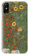 Farm Garden With Sunflowers IPhone Case