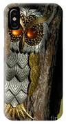 Faux Owl With Golden Eyes IPhone Case