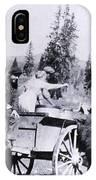 Feeding Bear Yellowstone National Park IPhone Case