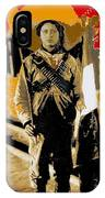 Female Soldier With Mexican Flag  Unknown Location C. 1914-2014 IPhone Case