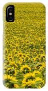 Field Of Blooming Yellow Sunflowers To Horizon IPhone Case