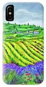 Fields At Dievole IPhone Case