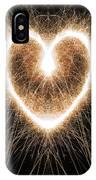 Fiery Heart IPhone Case