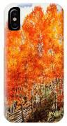 Flaming Aspens 2 IPhone Case
