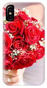 Floral Rose Boquet Held By Bride IPhone Case