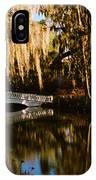 Footbridge Over Swamp, Magnolia IPhone Case