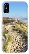 Footpath On The Atlantic Dune In Brittany IPhone Case
