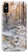 Forest Creek After Winter Storm IPhone X Case