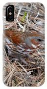 Fox Sparrow 2 IPhone Case