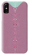 Fractal 28 Pink Gingham Shirt IPhone Case