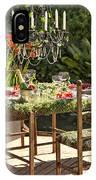 Garden Table Setting IPhone Case