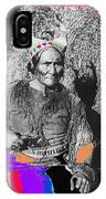Geronimo With Pistol Ft. Sill Oklahoma Collage Circa 1910-2012 IPhone Case