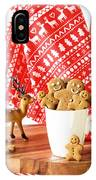 Gingerbread At Christmas IPhone Case