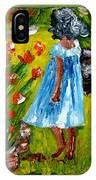 Girl In The Garden IPhone Case