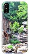 Glade Creek Grist Mill IPhone Case