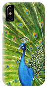 Glorious Peacock IPhone Case
