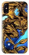 Gold Metal Dragon IPhone Case