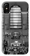 Grand Central Station Bw IPhone Case
