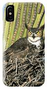 Great Horned Owl Bubo Virginianus IPhone Case