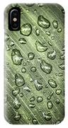 Green Leaf With Raindrops IPhone Case