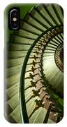 Green Spiral Staircase IPhone Case