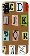 Grunge Alphabet IPhone Case