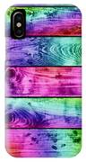 Grunge Colorful Wood Planks Background IPhone Case