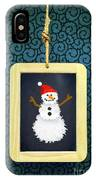 Hanged Xmas Slate - Snowman IPhone Case