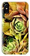 Hens And Chick Plants IPhone Case