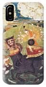 Hindu Goddess Durga Fights Mahishasur IPhone Case