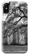 Historic Sheldon Church 4 Bw IPhone Case