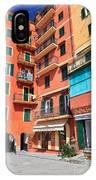 homes and promenade in Camogli IPhone Case