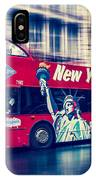 hop on hop off  through NYC IPhone Case