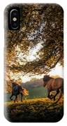 Horses Running At Sunset, Baden IPhone Case